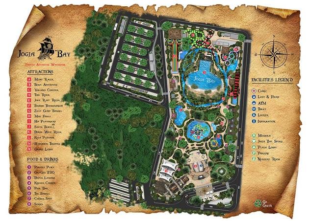 Peta Jogja Bay Pirates Adventure Waterpark