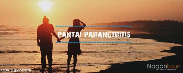 Potret Senja di Pantai Parangtritis