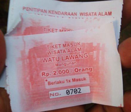 Tiket Masuk Wisata Watu Lawang Mangunan